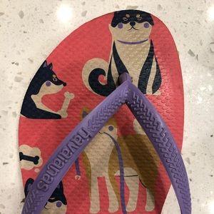 Havaianas Dog Print Flip Flops 39